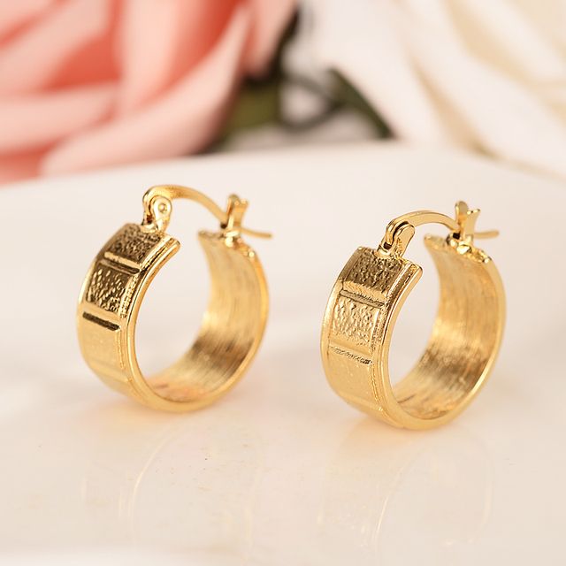 Bangrui Ethiopian Eritrea Nigeria Kenya Ghana African S Earrings Gold Hoop