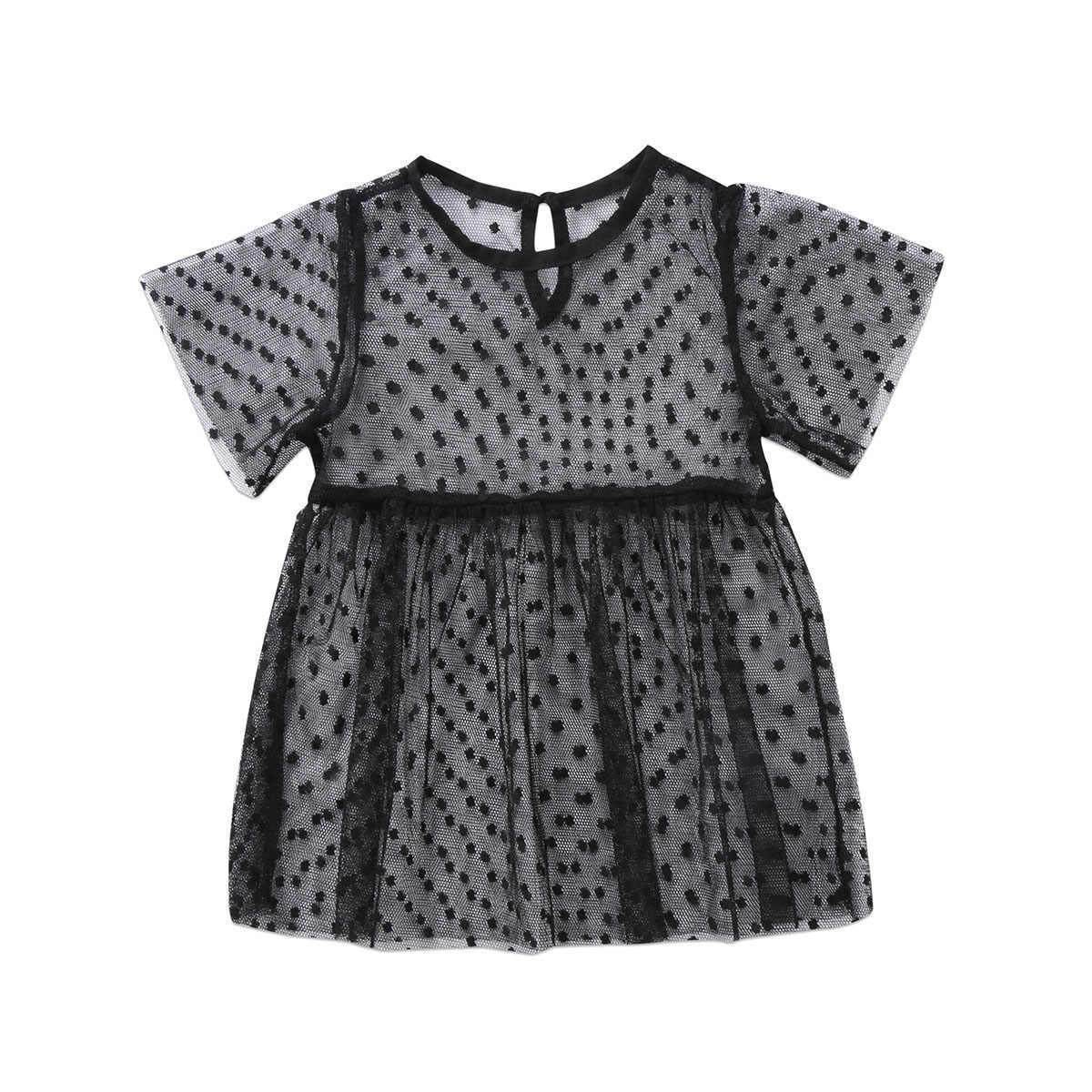 Pudcoco נסיכת בנות בנות תינוק תינוקת פעוט שמלת טול שקוף 6M-5Years אבזרי תמונה בגדי המפלגה תחרות בנות