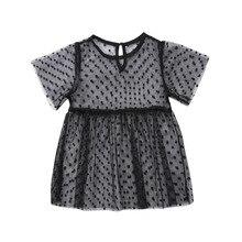 Pudcoco Princess Girls Dress Toddler Infant Baby Girl Transp