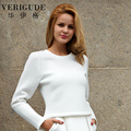 Veri Gude Crop Tops Women Striped Pullover for Ladies Long Sleeve Slim Fit Good for Autumn