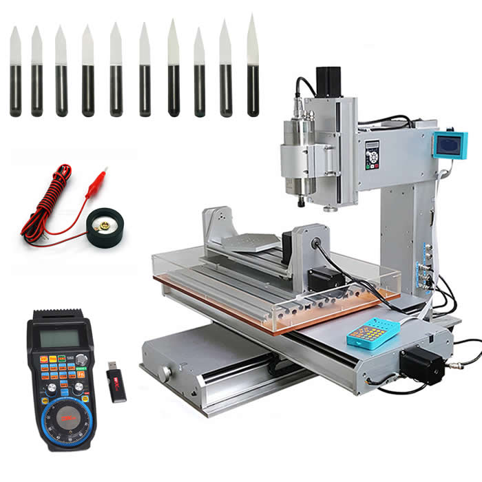 vertical cnc milling machine 3040 5axis 2200w watercooled frequency spindle with WHB04B-6 usb handwheel cnc toolsvertical cnc milling machine 3040 5axis 2200w watercooled frequency spindle with WHB04B-6 usb handwheel cnc tools