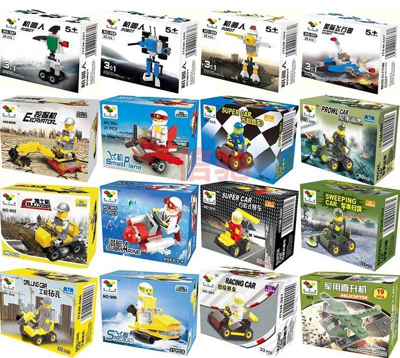 Single Sale prowl car air plane robot tanks cannon excavator Building Blocks Sets Assemblage Classic toys Best Children Gifts