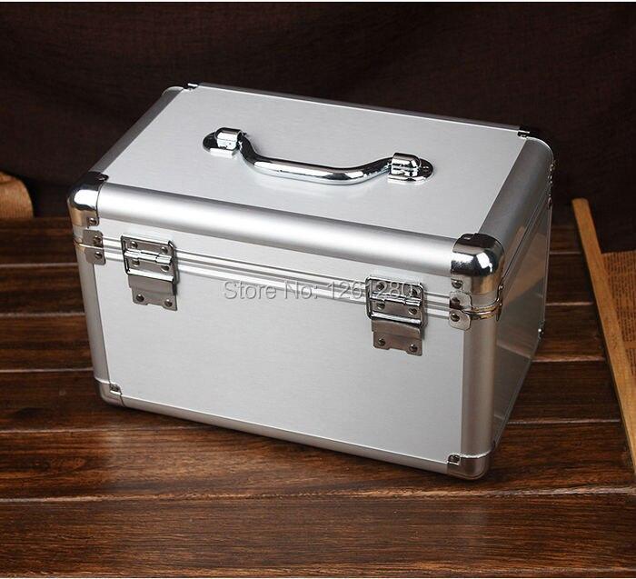 Boîte de rangement en alliage d'aluminium boîte à bijoux organisation cosmétique médecine divers boîte outil emballage du boîtier boîte à air