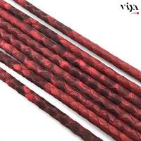 4mm Luxury Bracelet Leather Cord 2015 Top Sale High Quality Leather Cord 4mm Light Grey Python