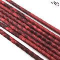 4mm Luxury Bracelet Leather Cord 2016 Top Sale High Quality Jewelry Leather Cord 5mm 6mm Real Matt Red Python Skin Leather Cords