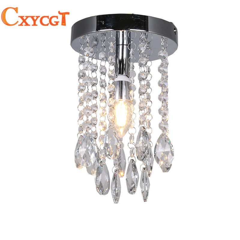 Mini Modern Luxury led Teardrop Crystal Chandelier for Bedroom Corridor Hallway  Wall Ceiling Lamp Chrome Base 2016 new modern fashion free shipping multi color acrylic sunflower led wall lamp for bedroom hallway corridor