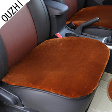 OUZHI for FORD FOUCS 2 3 DODGE RAM Chevrolet Cruze black beige brown red soft breathe freely single plush fur car seat covers