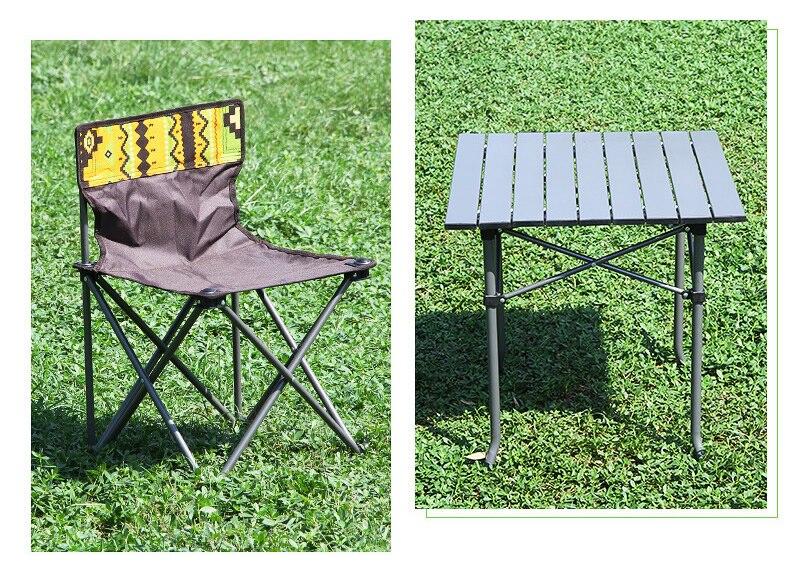 Portátil Camping Set (4 * Cadeiras +