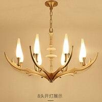 copper chandelier lighting dining room E14 modern copper led chandelier light lamp for living room