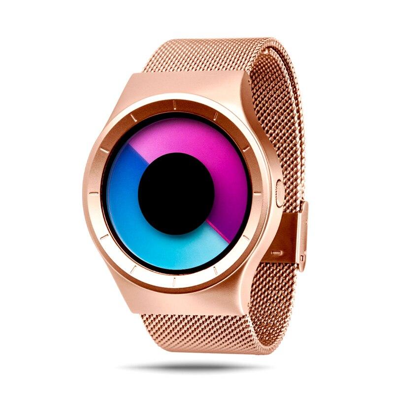 Brand New Creative Rotation Men Watches 2018 Stainless Steel Mesh Strap Quartz Sport Watch Men Fashion Relogio Masculino