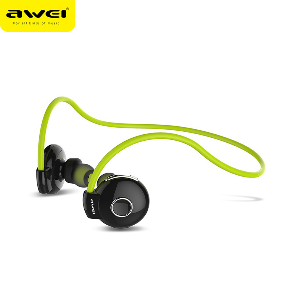 Awei Blutooth Sport Cordless Earbud Earpiece Wireless Headphone Headset Auriculares Bluetooth Earphone In Ear Mic For Phone Bud  blutooth stereo hand free mini bluetooth headset earphone ear phone bud cordless wireless earpiece earbud handsfree for phone