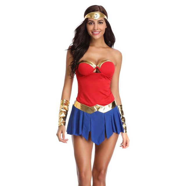halloween 2018 wonder woman costume gal gadot fantasia party cosplay dresses outfit role playing female soldiers