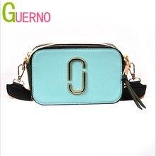 GUERNO женская сумка 2019 модная контрастная маленькая квадратная сумка Джокер широкополосная сумка через плечо сумка-мессенджер в Европе и Америке al121