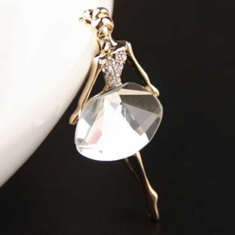 JETTINGBUY Ba Lê Công Chúa Cổ Điển Ballerina Brooch Girl Phụ Nữ Thời Trang Jewelry 1 CÁI New Exquisite Trâm Cài Bling Ngọc Trâm