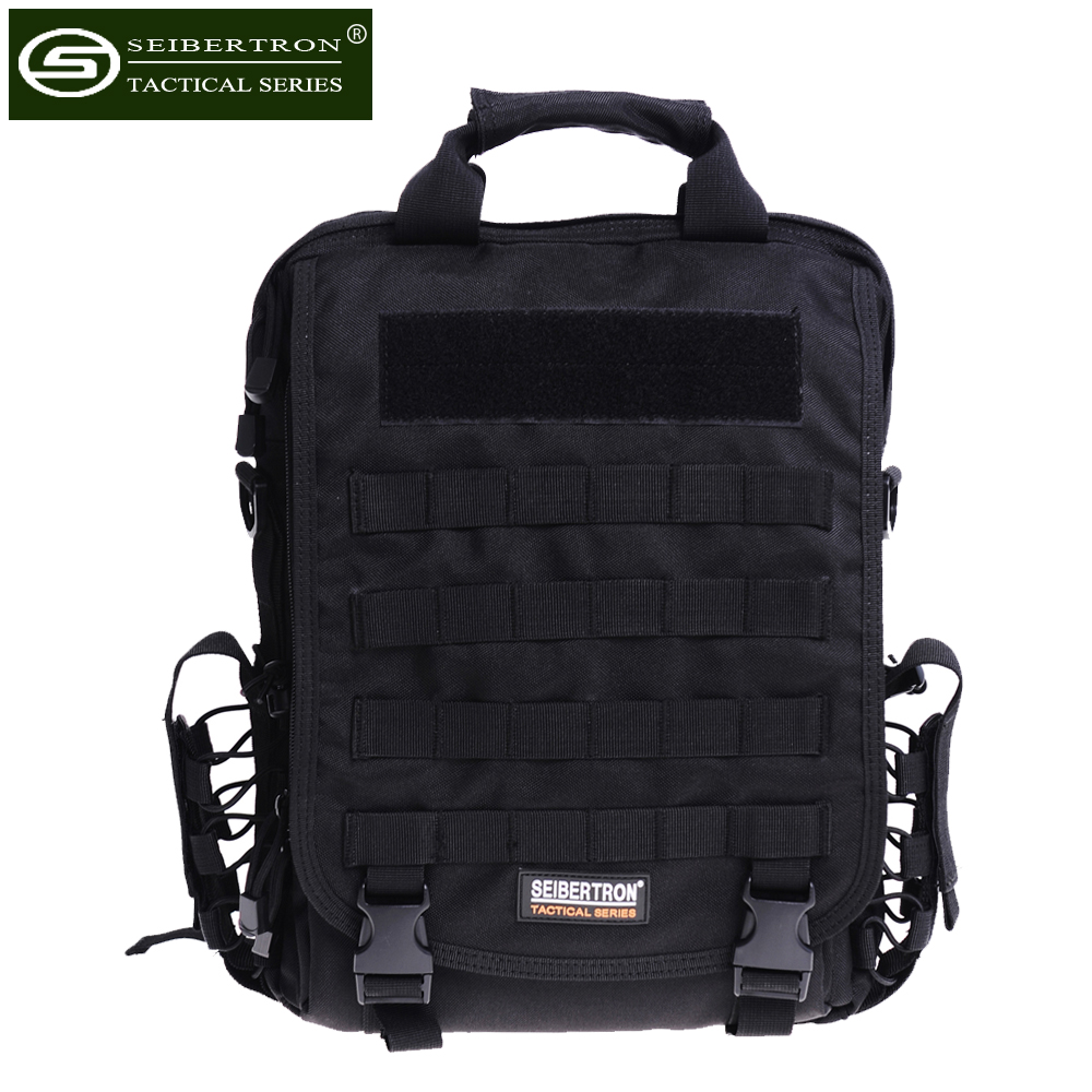 Seibertron waterproof tactical bag 15 6 inch Large Size Laptop Sling Backpack Black Brown High Quality