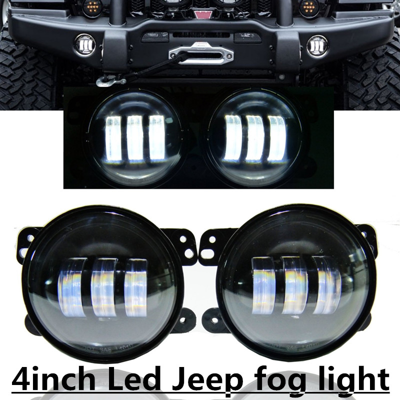 4 Led Fog Light Led Fog Lamps Bulb Auto  Projector Headlight Front Bumper Lights Driving Offroad for Wrangler JK Dodge Chrysler us eu standard remote control switch 1 2 3 gang 1 way crystal glass switch panel remote wall touch switch for smart home