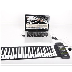 Многофункциональная портативная 88 клавишная Гибкая силиконовая складная электронная клавиатура для детей и студентов