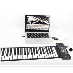 Multi Stile Portatile 88 Tasti Flessibile Del Silicone Roll Up Pianoforte Pieghevole Tastiera Elettronica per I Bambini Studente