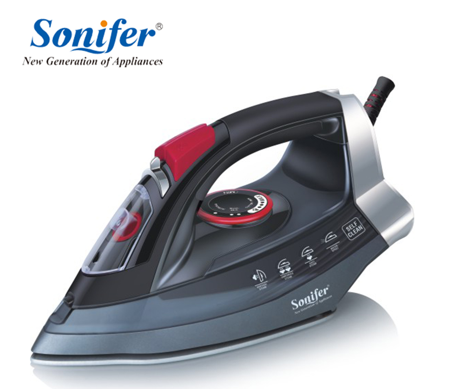 2200W Portable Electric Steam Iron For Clothes High Quality Ceramic soleplate Three Gears 220V Sonifer