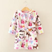 Enfants imprimer robe vente 1 pc/lot Le nouveau mode mignon 100% Corail polaire livraison gratuite Enfants de bande dessinée robe aTRQ0685