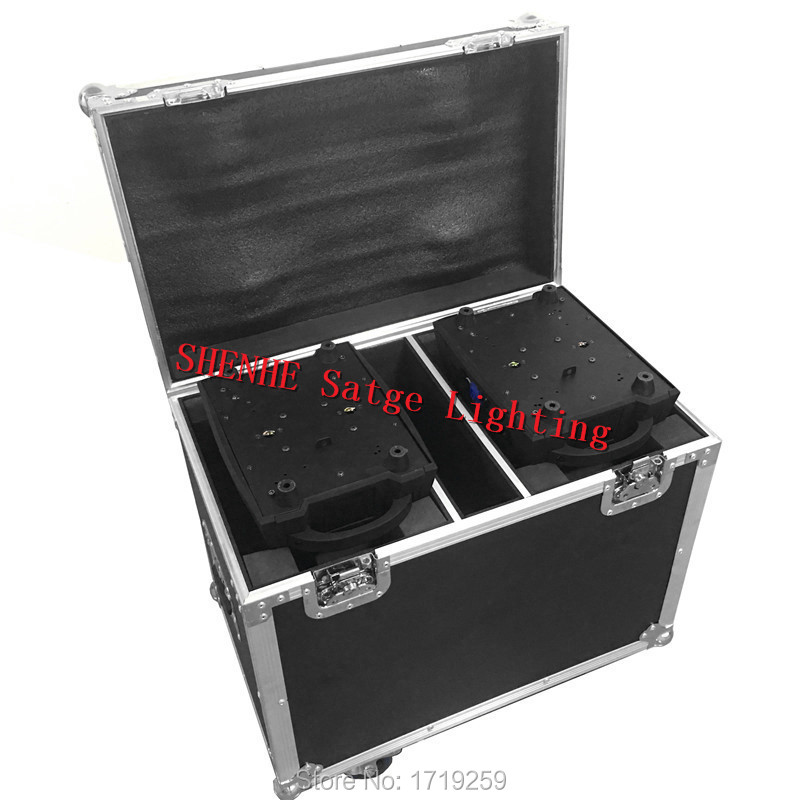 Flight Case with 2 pieces LED Wash Moving Head 12x18W RGBWA+UV LED Stage Wash Lighting for Wedding Concert Parties DJ flight case packing with16x16 feet led wedding dance floor concert stage flooring dance dj lighting floor flight case
