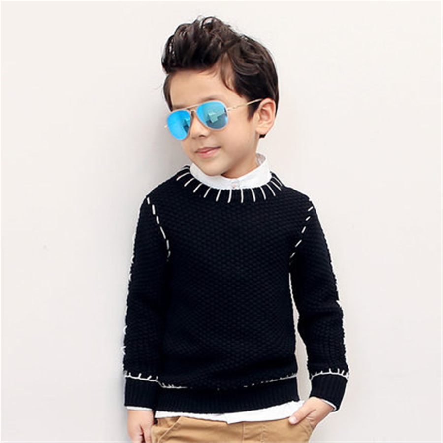Children Sweater Girls With Long Sleeves Clothing Fashion Black ...