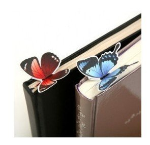 1pcs/lot  Cartoon Butterfly Bookmarks Cute Book Marks  Office & School Paper Clip  Kids Gifts