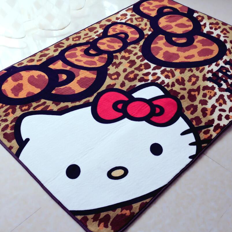Lovely 130*190CM Leopard Hello Kitty Rug For Kids Room Livingroom Bedroom Mats In  Mat From Home U0026 Garden On Aliexpress.com | Alibaba Group