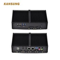 كانسونغ سيليرون 3215U وحدة المعالجة المركزية 6 COM RS232/RS485 رخيصة بدون مروحة كمبيوتر مصغر 2 Lan 2 HD 6 USB الصناعية مجلس واحد x86 كمبيوتر مصغر