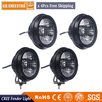 40W 4.5'' inch LED WORK LIGHT 12V 24V Round OFFROAD AUTO SUV 4X4 TRUCK ATV 4WD AWD MOTORCYCLE TRACTOR REVERSE LAMPS HEADLIGHT x4