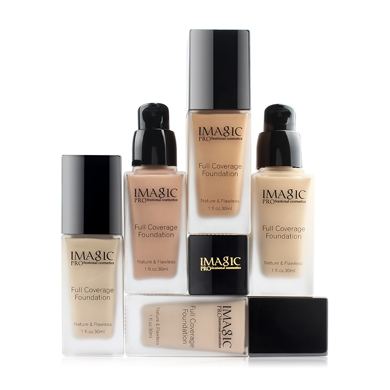 Liquid Foundation Control Oil Moisturizing Brighten Skin Tone Cover Blemishes Long Lasting Makeup Foundation image