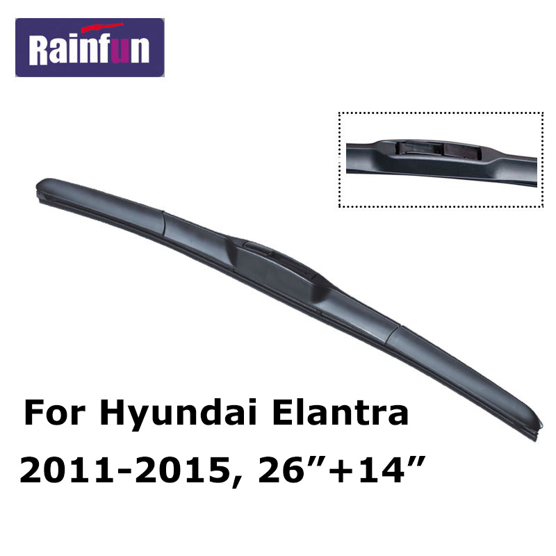 RAINFUN специальный автомобиль стеклоочистителя для hyundai Elantra 2000- высокое качественное лобовое стекло стеклоочистители 2 шт. в партии limpiaparabrisas - Цвет: 2011-2015