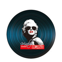 American Style Round Vintage Vinyl Record Wall Decor Restaurant Bar Room Decoration Classic Movie Characters Wood Painting Mural vic firth american classic® wood tip 5bb