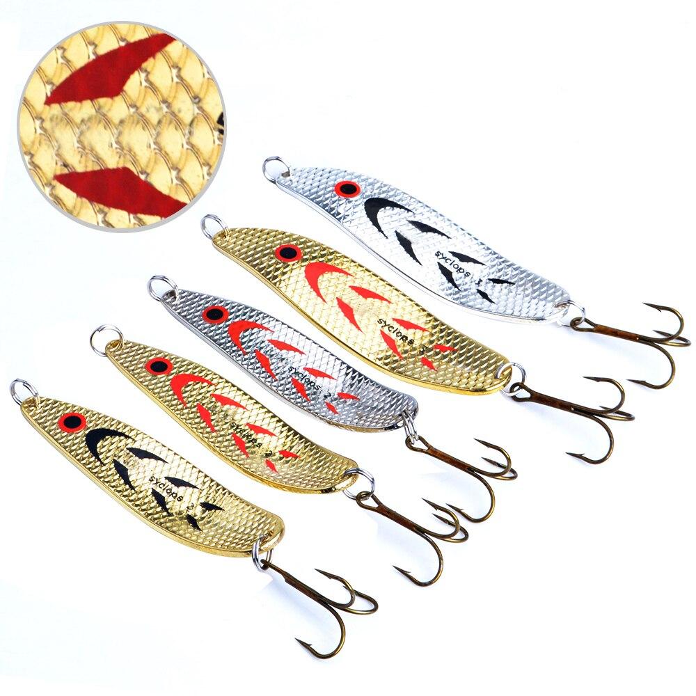 FISCH KÖNIG Mepps Fischköder 5 teile/los Wobbler Peche Löffel Köder Angelgerät China Winter Künstliche Harten Gefälschte Fisch Metall