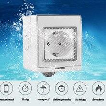 Timethinker Ewelink стены Wi Fi разъем IP55 водостойкий умный таймер выход США ЕС Великобритания Plug для Alexa Google дома DIY дистанционное управление