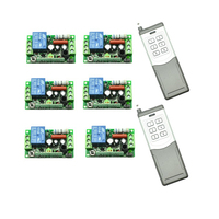 AC 220 V 10 A 6CH Wireless Remote Control Switch Each CH is Independent Learning code Toggle/Momentary