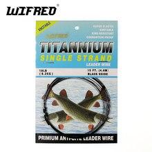 Wifreo 15ft/4.6m nenhuma torção titanium líder linha de água salgada pique pesca líderes/trace fly amarrando wiggle cauda link fio