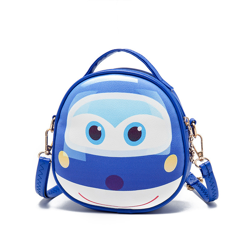 PU leather cartoon printing children school bags kids messenger crossbody money phone pouches for kindergarten baby girls boys