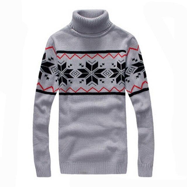 2016 Nova boutique dos homens no inverno para manter quente camisola de gola alta/alta qualidade dos homens slim fit Alta gola de tricô camisas