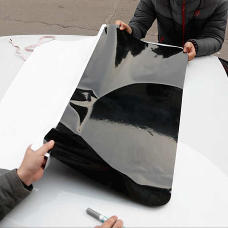 Car Imitation Fake Sunroof Sticker Black Glossy Wrap Roof Vinyl Film DIY screw extractor
