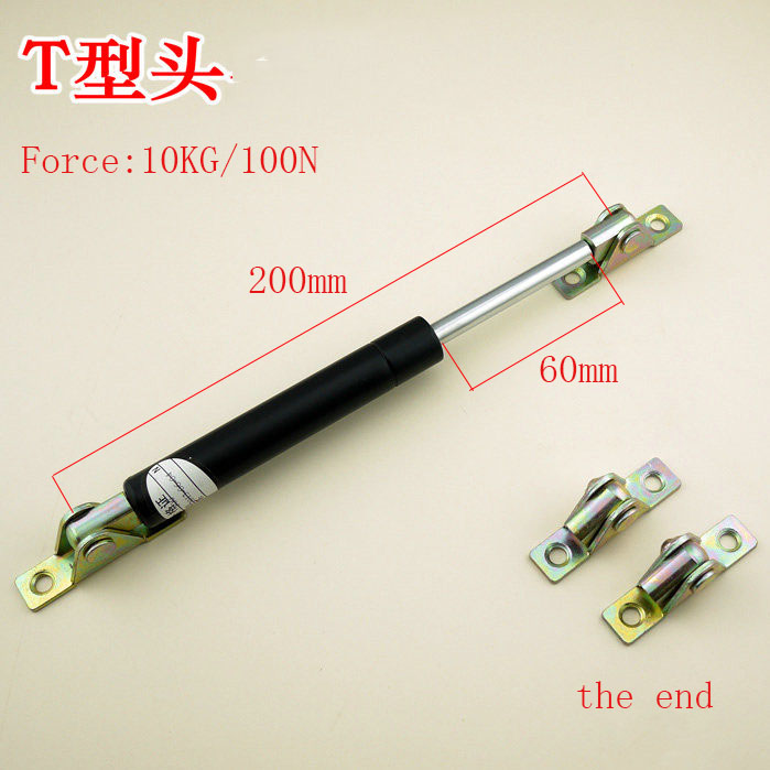 Free shipping  200mm central distance, 60 mm stroke, pneumatic Auto Gas Spring, Lift Prop Gas Spring Damper kitchen cabinet door lift pneumatic support hydraulic 500mm central distance 200mm strok gas spring stay for wood box
