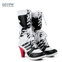 D C Movie Suicide Squad Harley Quinn Shoes Cosplay Harley Quinn Boot Anime Accessory Clown Halloween