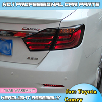 for Toyota Camry Taillights 2012 2013 2014 Camry V50 LED Tail Light Aurion Rear Lamp DRL+Brake+Park+Signal Car Styling