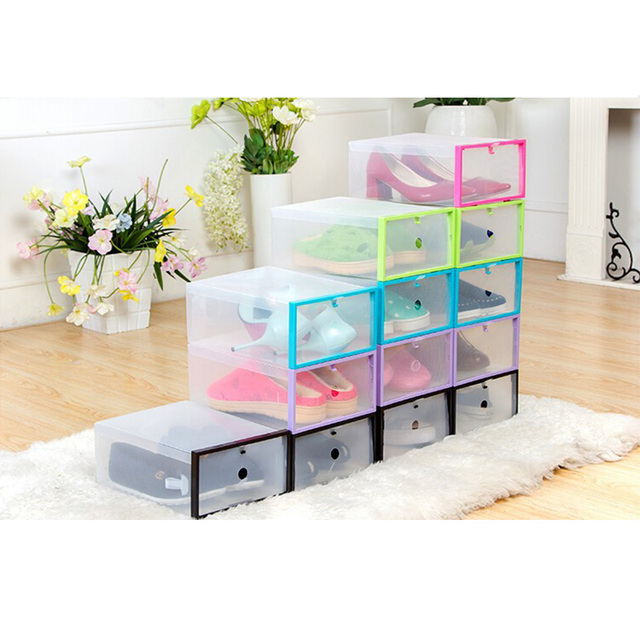 5 PCS Eco-Friendly storage box Multi-function Foldable Transparent Plastic Storage Box Shoes  sc 1 st  AliExpress.com & 5 PCS Eco Friendly storage box Multi function Foldable Transparent ...