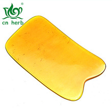 Cn Herb 1 Pcs Thin Section Of The Horn Scraping Tablets Square Notch Piece Natural Yak Plate Massage Film
