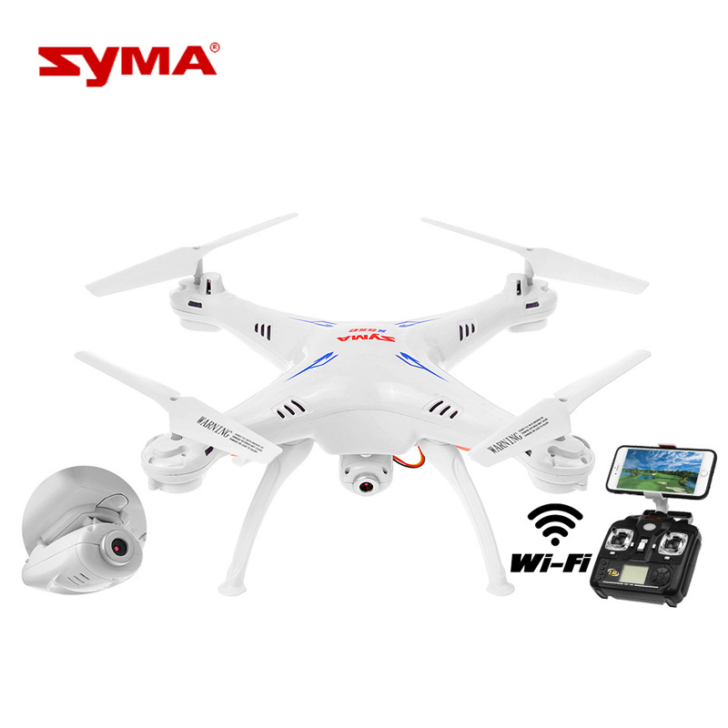 RC Relicopter Syma X5SW FPV 2.4Ghz 4CH 6-Axis Gyro RC Headless Quadcopter Drone UFO with 0.3MP HD Wifi Camera Fly RC Toys
