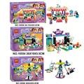 BELA Amigos de La Chica de La Princesa Elsa de Tiro Máquina de Atracciones Parque de Bloques de Construcción de Ladrillo juguetes para niños Lepin