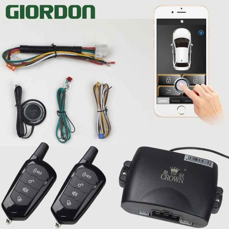 car alarm alarm with auto start Mobile phone remote control spare control panel for pke keyless lock one-button start MP900