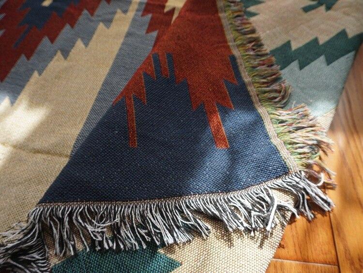 Puro algodão nostalgia Retro Tibet Étnica Arte tapete cobertor fino cobertor tampa de cama quarto sala Toalha de Mesa tapeçaria de Feltros - 5