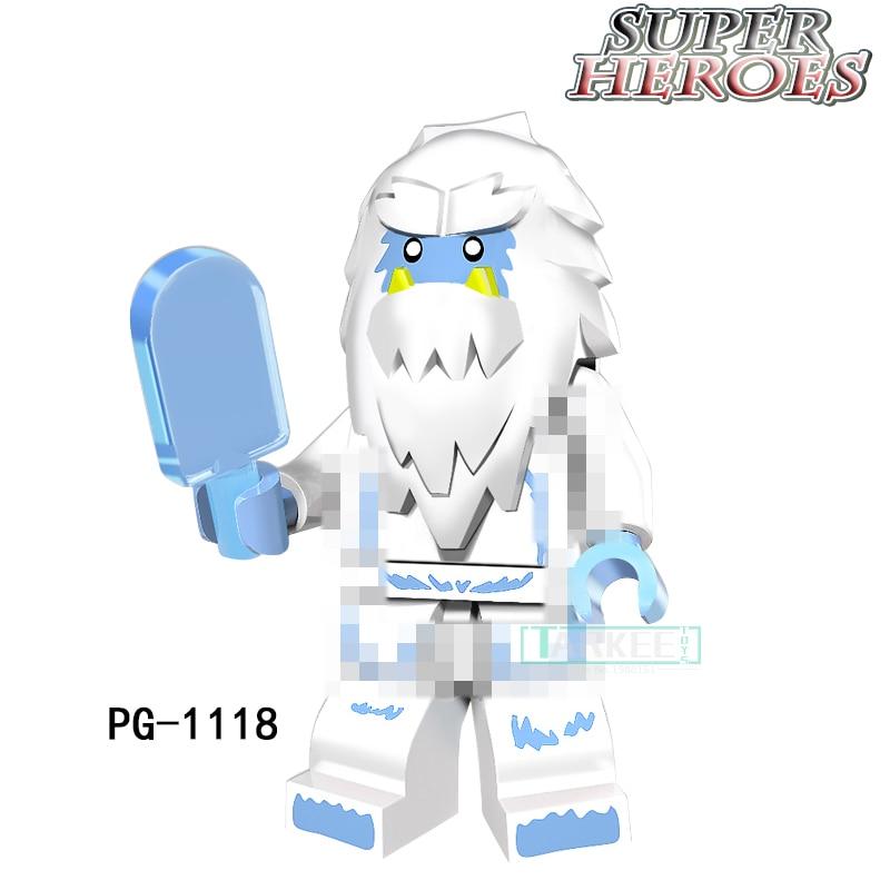 Single Sale Building Blocks Toys Super Heroes Snow Bigfoot Model Movie Bricks Action Toys Children Christmas Figure PG1118 цена и фото
